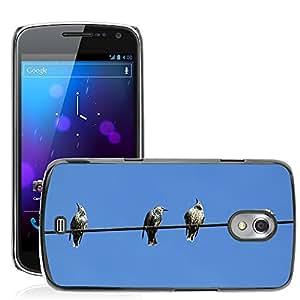 Etui Housse Coque de Protection Cover Rigide pour // M00133713 Estrella Stare Birds Power Line // Samsung Galaxy Nexus GT-i9250 i9250