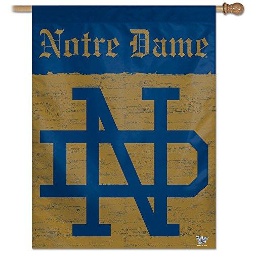 NCAA Notre Dame Fighting Irish College Vault Vertical Flag, 27 x 37-Inch