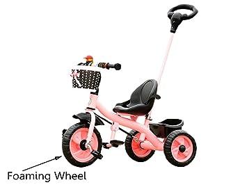 Bike niño Interior al Aire Libre el pequeño Triciclo Bicicleta Bicicleta de Chico Moto Chica Bebé de 18 Meses -5 años de Edad Tres Ruedas Carretilla: ...