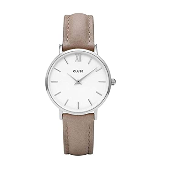 Cluse Reloj Analógico para Mujer de Cuarzo con Correa en Cuero CL30044: Amazon.es: Relojes