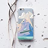 WolfCase Phone Plastic Silicone Case Transparent Flexible Cover for Apple iPhone 7 Plus iPhone 6 6S Plus iPhone 4 4S 5 5S 5C iPhone SE iPod Touch, Mountains, Clouds, UFO, 135