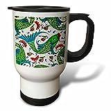 3dRose Danita Delimont - Artwork - Ancient Arab Islamic Fish Designs Pottery Madaba Jordan - 14oz Stainless Steel Travel Mug (tm_276909_1)