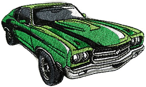 - Classic Cars Collection [ 70 Chevy Chevelle] [American Automobile History in Embroidery] Embroidered Iron On/Sew patch [5.9
