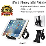"Cycling Bike iPad/iPhone Mount, Portable Compact Tablet Holder for Indoor Gym Handlebar on Exercise Elliptical Bikes & Treadmills, Adjustable 360° Swivel Stand For 3.5-12"" Tablets/Cell Phones"