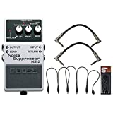 BOSS NS-2 Noise Suppressor Pedal w/Daisy Chain Power Cable and (2) 6'' Patch Cables