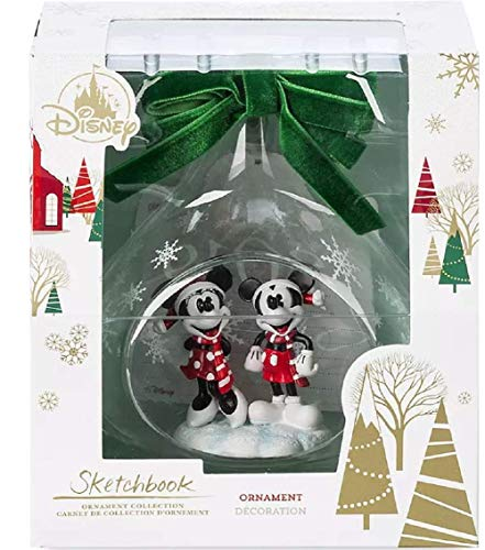 ORNAMENT Mickey and Minnie Mouse Glass Drop Sketchbook 2019 (Ornaments World Christmas Disney)