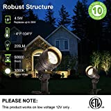 Hykolity Low Voltage LED Landscape Wall Wash Light, 7.4W 430LM 12V Wired Outdoor LED Spotlight for Tree Bulidings, Die-cast Aluminum Construction, 50-Watt Equivalent, 15-Year Lifespan, 4 Pack
