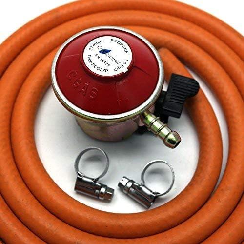 Regulador de gas para patio de 27 mm con manguera de 2 m + 2 ...