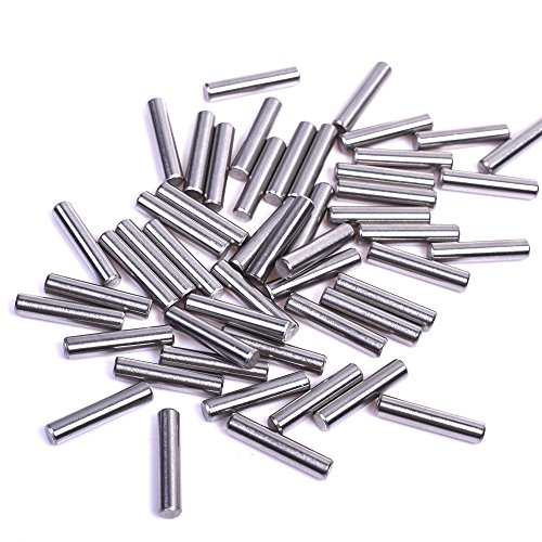 BCP 100 Pieces 5 mm x 24 mm Dowel Pin Stainless Steel Shelf Support Pin Fasten Elements by BCP