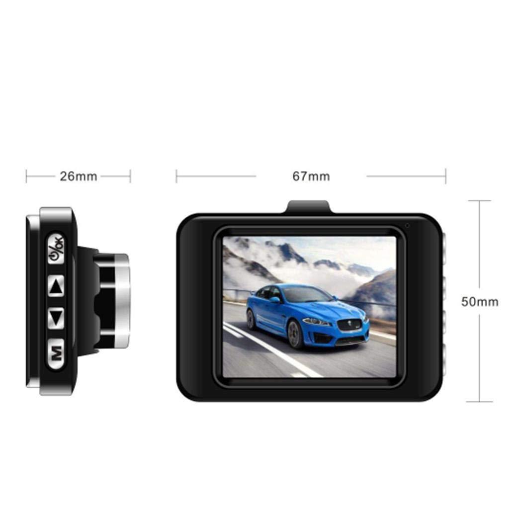 Sensor G Sensor de Infrarrojos visi/ón Nocturna yagot c/ámara Auto Dash CAM monitoreo de estacionamiento soporta hasta 32 GB grabadora de conducci/ón Gran Angular de 120 /° detecci/ón de Movimiento