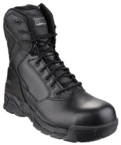 Magnum Stealth Force 8.0 Leather CT CP Sidezip WPi Walking Boots - 9 - (Stealth Force 8.0 Leather)