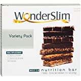 WonderSlim High Protein Meal Replacement Bar - High Fiber, Kosher, Variety Pack (7 Count)