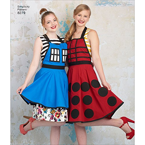 Costumes Apron (Simplicity Pattern 8279 Misses' Aprons from Lori Ann Costume Designs, Size A (S-M-L))