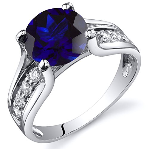 sapphire sterling silver ring - 9