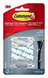 Command Cord Clips, Large, Clear, 2-Clip, 4-Pack