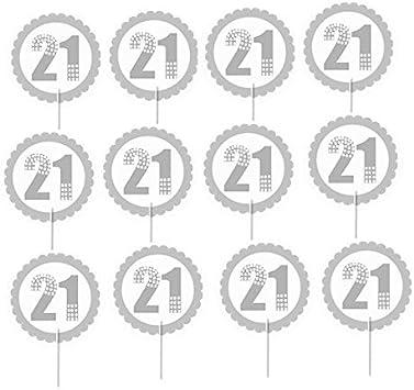 21st Anniversaire de la Bière Pinte Fête Aliments Cupcake Picks Sticks Drapeau Décorations Toppers