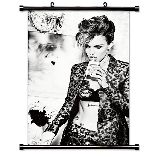 Ruby Rose Actress Fabric Wall Scroll Poster  16X24  Inches