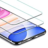 Electronics : ESR Screen Protector Compatible for iPhone 11, iPhone XR [2 Pack] [Easy Installation Frame] [Case Friendly], Premium Tempered Glass Screen Protector for iPhone 6.1 Inch (2019)