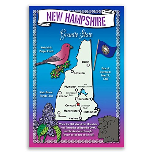 Amazoncom PACK OF NEW SCENIC NEW HAMPSHIRE POSTCARDS Health - New hampshire on map of usa