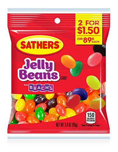 Farley's & Sathers Candy, Jelly Beans, 3.4 Ounce, Pack of 12 (Jelly Sathers Beans)