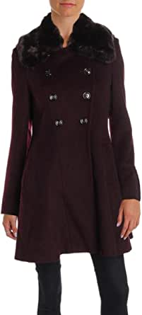 VIA SPIGA Women's Mid-Length Fit and Flare Double Breasted Wool Coat