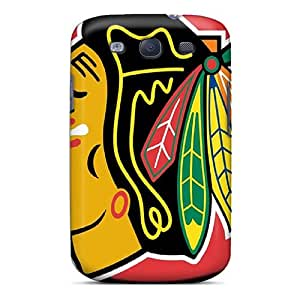 Snap-on Case Designed For Galaxy S3- Chicago Blackhawks