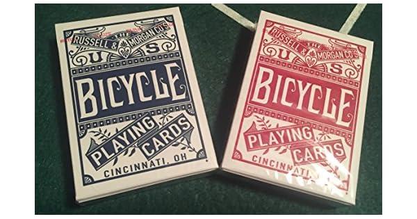 Amazon.com: Bicicleta chainless Playing Card Deck (Rojo y ...