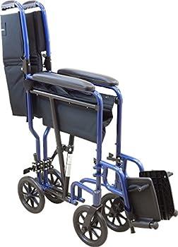 Roscoe Medical Kta1916sa-bl Aluminum Transport Wheelchair, Blue 1