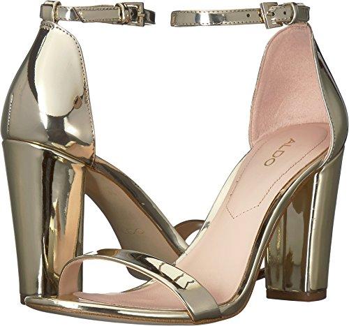 - ALDO Women's MYLY Heeled Sandal Gold 9 B US