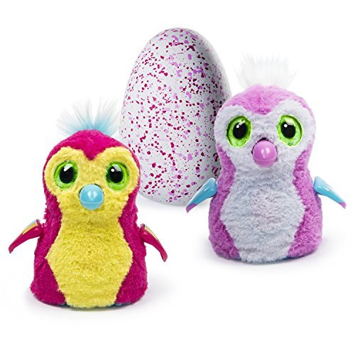 Hatchimals Hatching Egg Penguala To Raise Your Furry Hatchimal Through 3 Stages By Spin Master  Pink   Red