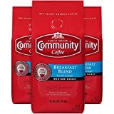 Community Coffee Breakfast Blend Medium Roast Premium Ground 12 Oz Bag (3 Pack), Medium Full Body Smooth Bright Taste, 100% Select Arabica Coffee Beans