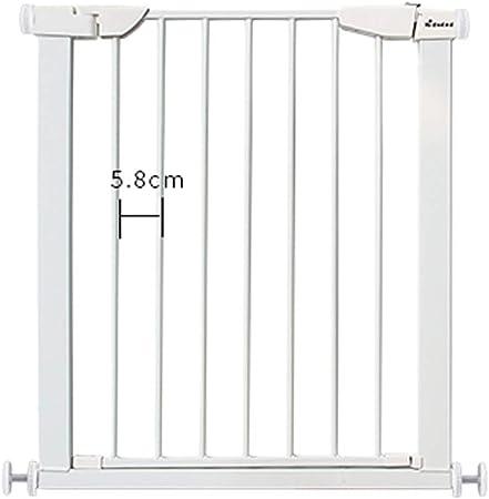 Puertas de bebé Puertas metálicas para bebés para escaleras, compuerta para Mascotas, Puerta para Mascotas con Puerta pequeña y Cierre automático, 65-79cm de Ancho, Blanco (Size : 65-72CM): Amazon.es: Hogar