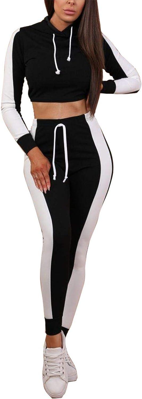 Ensemble de v/êtements de Sport ray/és pour Femmes et Haut Court et Ensemble de Jogging Costume Sport Yoga Gym Workout Outfit