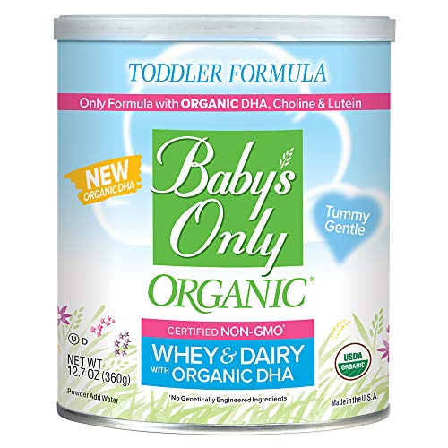Baby's Only Dairy Whey Protein with DHA & ARA Toddler Formula - Non GMO, USDA Organic, Clean Label Project Verified, 12.7 oz