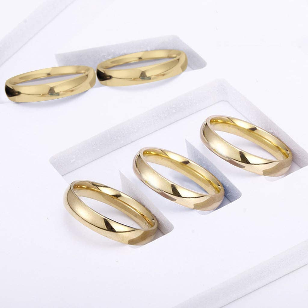Valentines Day Couple Ring Hstore Ring Fashion Simple Stainless Steel Women Men Ring Ring Size 5-13