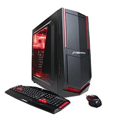 CyberpowerPC Gamer Ultra GUA3100A Gaming Desktop - AMD FX-4300 Quad Core 3.8GHz, 8GB DDR3 RAM, 1TB HDD, 24X DVD, AMD R7 240 2GB, Windows 10 Home