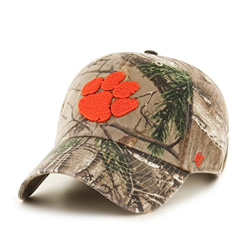 Clemson Tigers Hat (NCAA Clemson Tigers Realtree Clean Up Adjustable Hat, One Size, Realtree Camo)