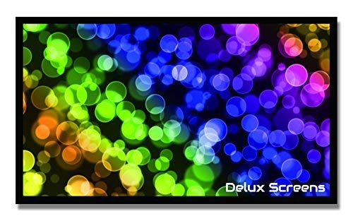 ((Sale) Delux Screens 100 inch 4K/8K Ultra HDR Projector Screen - Active 3D Ready - 6 Piece Fixed Frame - Home Theater Movie Projection Screen - PVC Matte White - Velvet Border (100