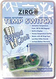 Zirgo ZFSDG Digital Adjustable Temp Control Switch with Probe