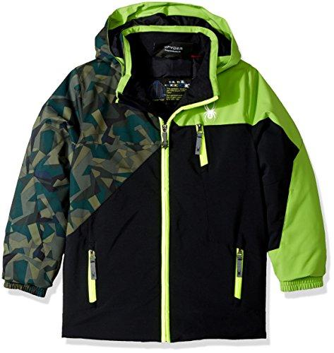 Spyder Mini Ambush Ski Jacket, Black/Mini Guard Camo/Fresh, Size 6 - Head Skis Freeride Skis
