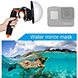 PULUZ for GoPro HERO 6/HERO 5 Shutter Trigger + Dome Port Lens Waterproof Housing Underwater Photography Transparent Cover + Floating Hand Grip with Adjustable Anti-lost Strap & Screw & Wrench