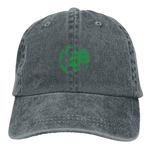 Hat Green World Travel Denim Skull Cap Cowboy Cowgirl Sport Hats for Men Women