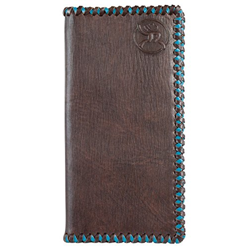 (Hooey Brand Roughy Signature Turquoise Stitched Edge Leather Rodeo Wallet - 1831137W5)