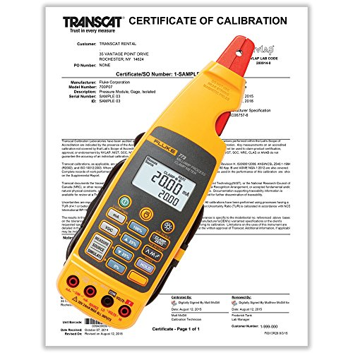 Fluke 773 Milliamp Clamp Meter with Calibration