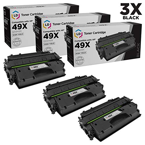 LD Compatible Toner Cartridge Replacement for HP 49X Q5949X High Yield (Black, 3-Pack)