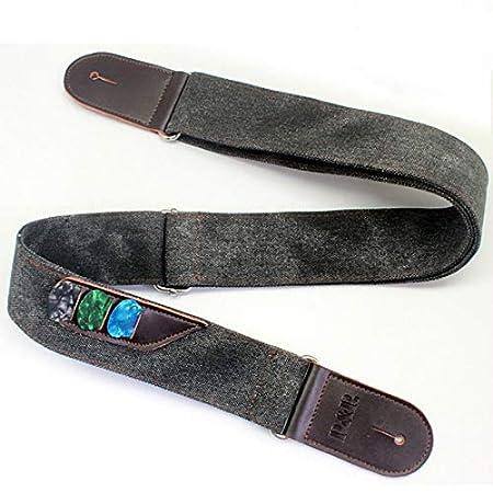 fghfhfgjdfj Vintage Denim Leather Guitar Strap Adjustable Electric Guitar Shoulder Strap for Acoustic Guitar Musical Parts