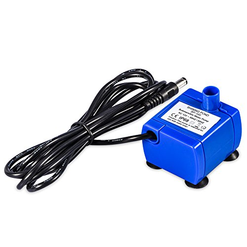 Silent New Generation Submersible Electric Water Pump 5.9ft Long Cable Low Power Consumption Motor Compatible for YOUTHINK Pet Fountains,Blue