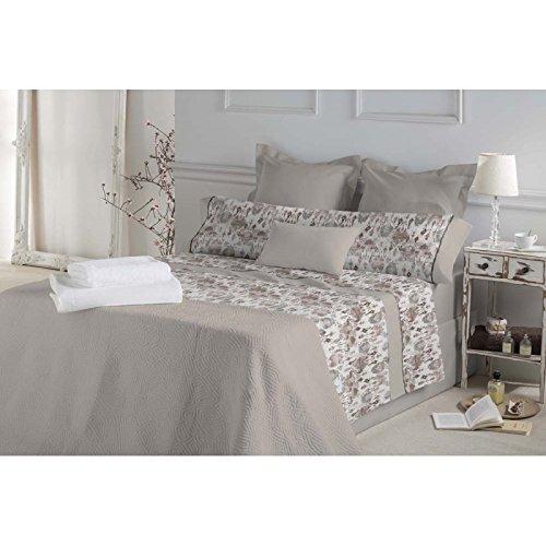 Don Algodón.- Juego de sábanas Marie color Beige para cama de 150 ...