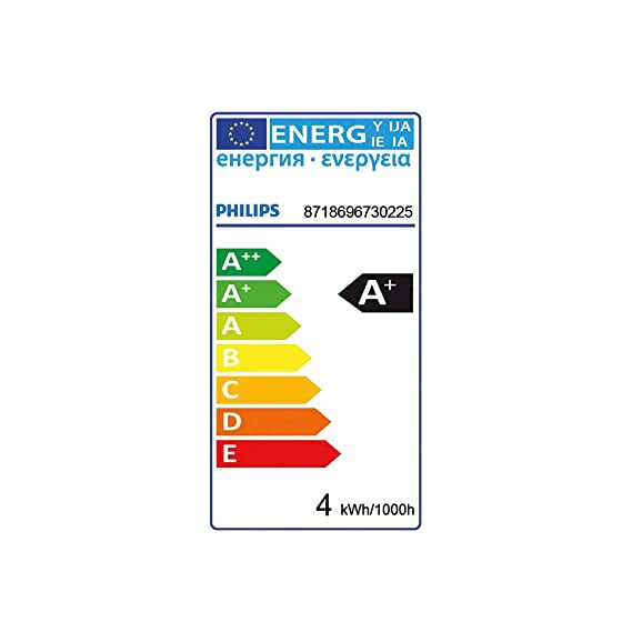 Philips CorePro LEDspot 4/W GU10/A /LED Bulbs Cool White LED Bulb/ Cool White, Silver, durchscheinend, A +, 50//60, 19/MA, 220//–/240