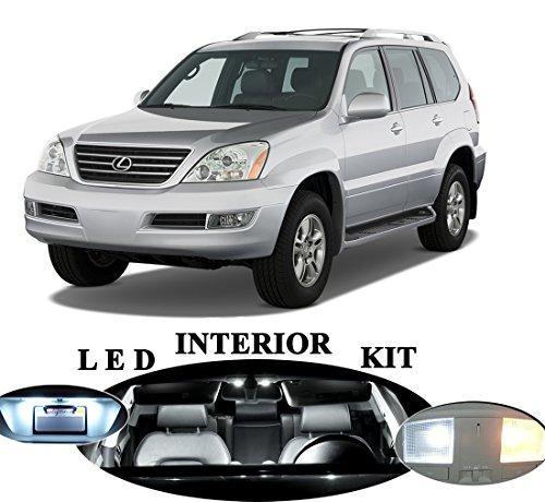 Lexus GX-470 Xenon White LED Package Upgrade - Interior + License plate / Tag + Vanity / Sun Visor (17 Pieces)